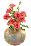 Roses in vase Royalty Free Stock Photography