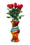 Roses in vase Royalty Free Stock Images