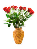 Roses in vase Royalty Free Stock Image