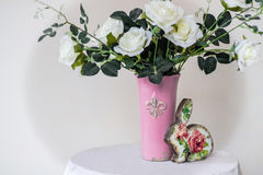 Roses in a vase Royalty Free Stock Photography