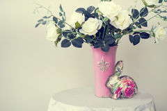 Roses in a vase Stock Images