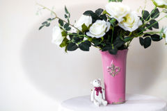 Roses in a vase Royalty Free Stock Images