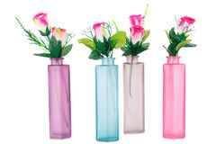 Roses in vases Royalty Free Stock Photos