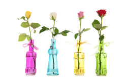 Roses in vases Royalty Free Stock Images