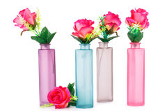 Roses in vases Stock Photography