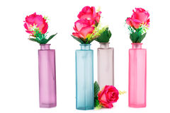 Roses in vases Royalty Free Stock Photography