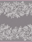 Roses Vertical Lace Seamless Pattern. Royalty Free Stock Images