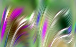 Roses verts romantiques colorés lissent le fond abstrait de vagues, fond abstrait Photo libre de droits