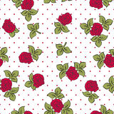 Roses vintage pattern Stock Images
