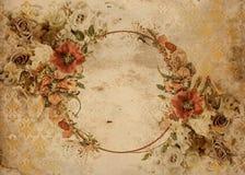 Vintage Flower garland shabby chic background Royalty Free Stock Image