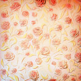 Roses on wall Stock Photo