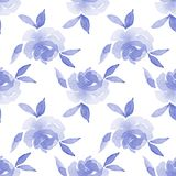 Roses. Watercolor background. Seamless pattern 15. Hand drawn floral seamless pattern Stock Photography