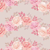 Roses wave pattern Royalty Free Stock Photo