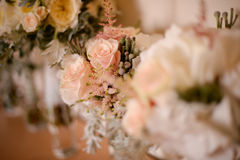 Roses wedding bouquet. In a vase, selective focus Stock Image