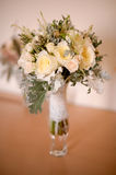 Roses wedding bouquet. White roses wedding bouquet in a vase Stock Image
