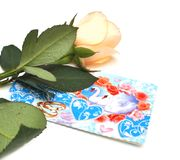 Roses and wedding card Stock Image