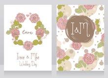 Roses Wedding Cards Royalty Free Stock Photo