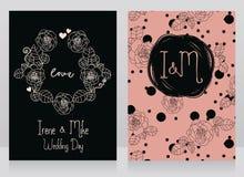 Roses Wedding Cards Royalty Free Stock Image
