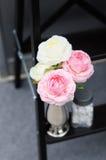 Roses wedding decoration Stock Photos