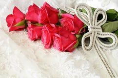 Roses and wedding decoration Stock Image