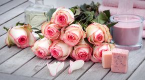 Roses for wellness and relaxation Royalty Free Stock Photos