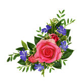 Roses and wild flowers bouquet Royalty Free Stock Image
