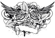 Roses wings Stock Photography