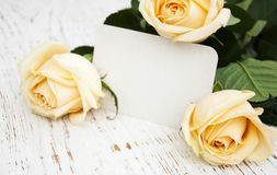 Roses With A Card Stock Image
