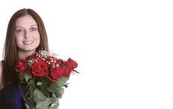 Roses Woman Stock Image
