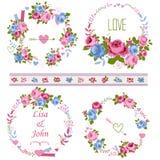 Roses wreath Stock Image