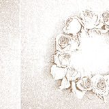 Roses wreath print Royalty Free Stock Image