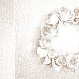 Roses wreath print Royalty Free Stock Image