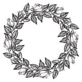 Roses wreath Royalty Free Stock Photography