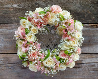 Roses wreath Royalty Free Stock Photo