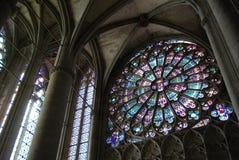 Rosetón, catedral del St. Celse Fotografía de archivo