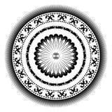 Rosetón circular decorativo Imágenes de archivo libres de regalías