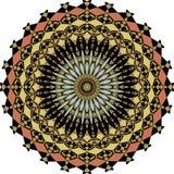 Rosetón colorido simétrico geométrico en estilo del art déco con los elementos del fragmento Fotografía de archivo
