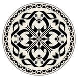 Rosetón cruzado gótico Foto de archivo