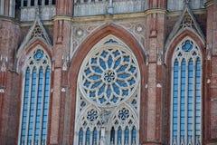 Rosetón de la catedral fotos de archivo