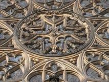 Rosetón de la catedral del St Vitus. Praga Fotos de archivo libres de regalías