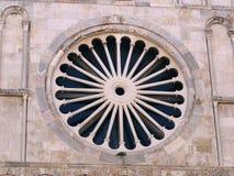 Rosetón de la iglesia imagen de archivo