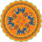 Rosetón del modelo del elefante indio libre illustration