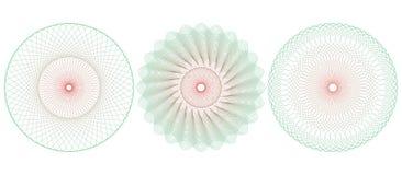Rosetón del modelo del guilloquis Ilustración del vector Fotos de archivo