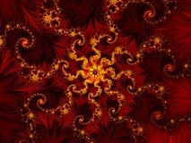 Rosetón rojo Fotografía de archivo libre de regalías