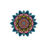 Rosetón tribal decorativo del ornamento de la mandala Imágenes de archivo libres de regalías
