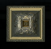 Roseta decorativa quadrada Tetrahedral de tiras de quadro de madeira Fotografia de Stock