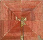 Roseta decorativa quadrada Tetrahedral de tiras de quadro de madeira Imagem de Stock Royalty Free