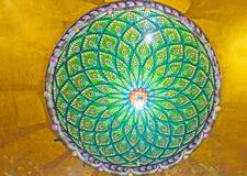 A roseta do teto no templo hindu de Matale Imagem de Stock Royalty Free