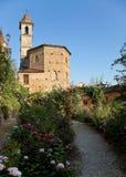 Roseto in Govone (Piemonte, Italia) Immagine Stock Libera da Diritti