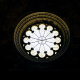 Roseton. Rosette buildt in ancient times in an ancient cathedral stock image